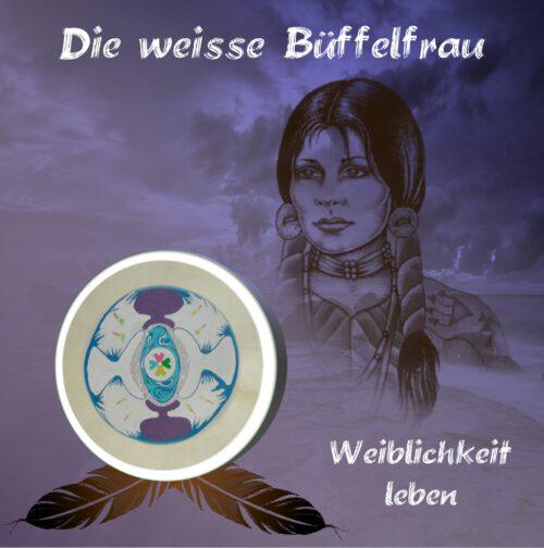 CD-Layout Weiße Büffelfrau Weiblichkeit leben front